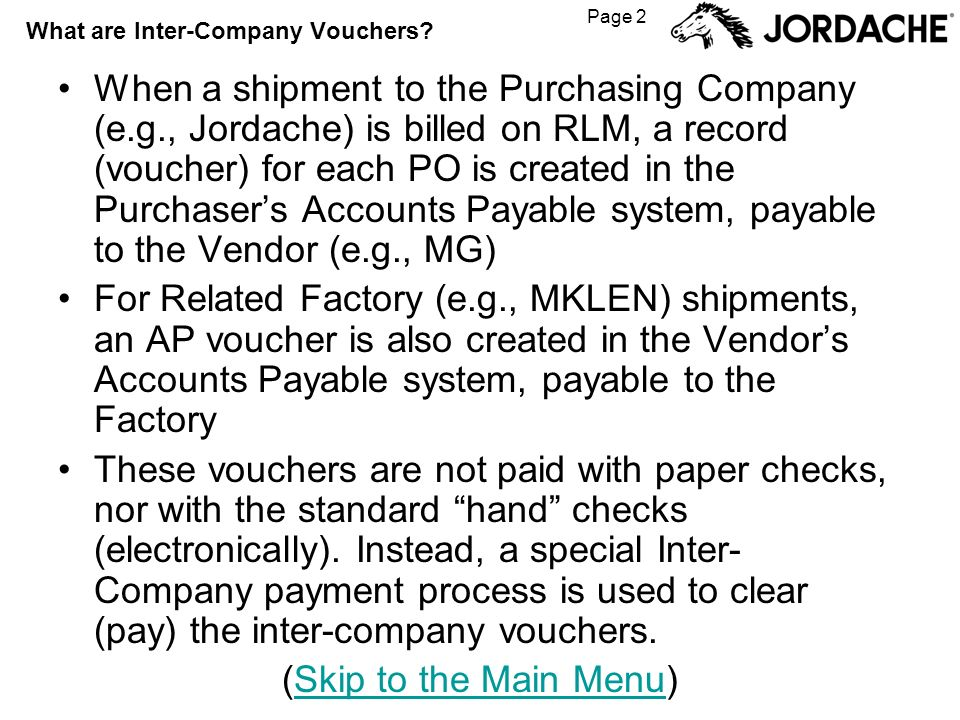 Page 2 What are Inter-Company Vouchers.