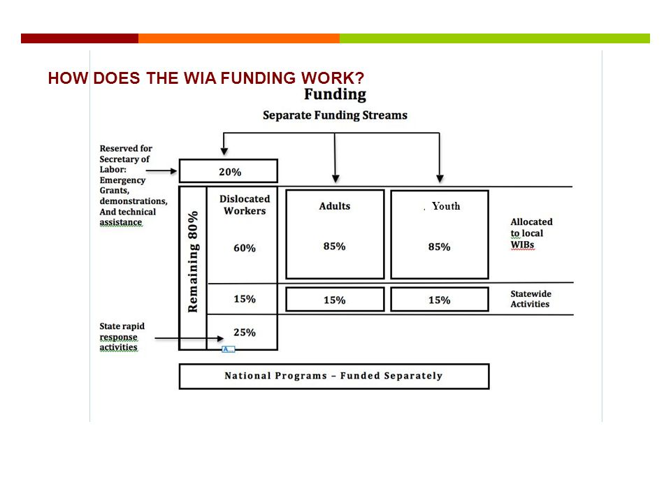 HOW DOES THE WIA FUNDING WORK Youth