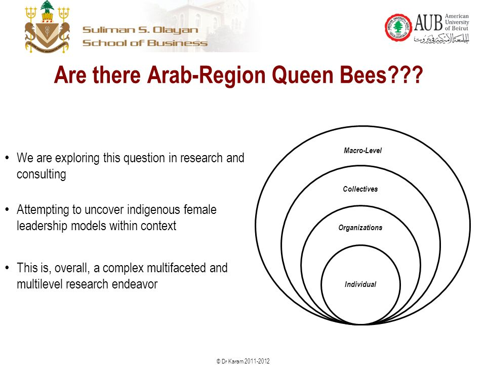 © Dr Karam Are there Arab-Region Queen Bees .