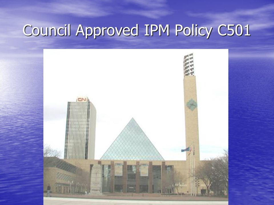 Council Approved IPM Policy C501