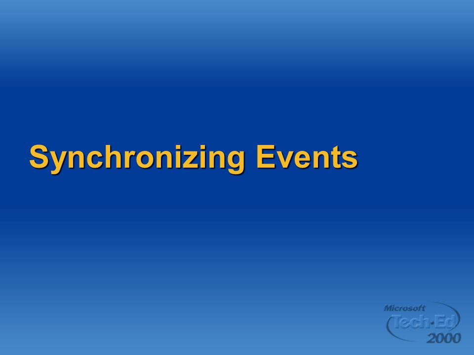 Synchronizing Events