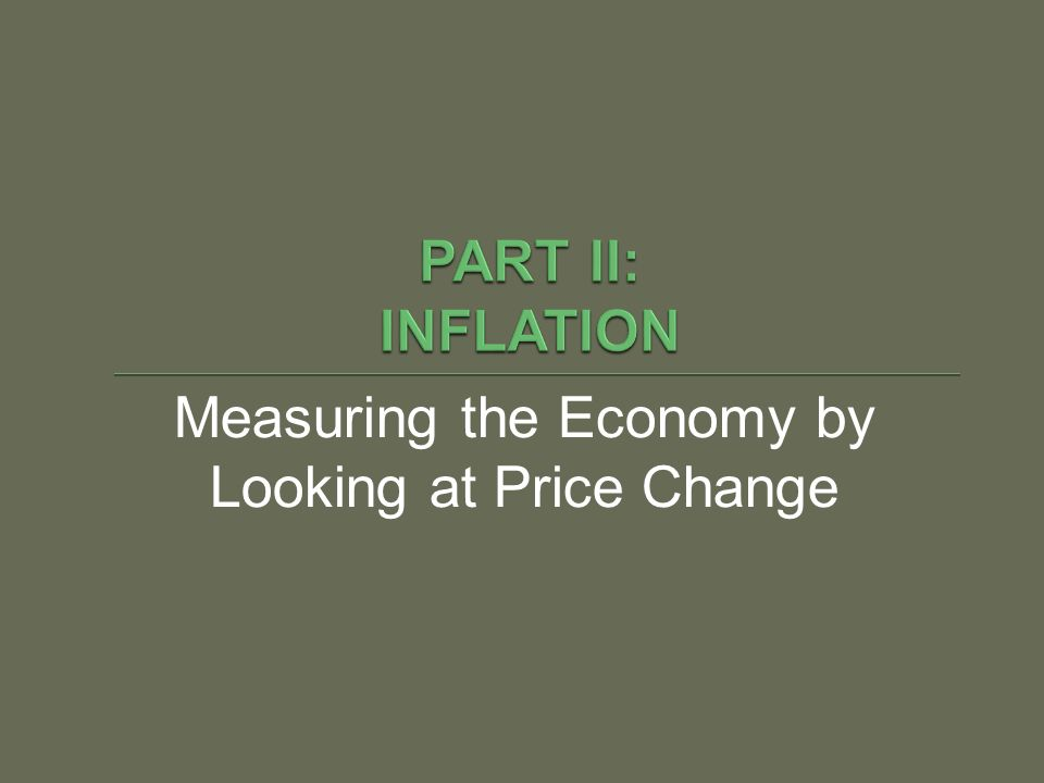 Measuring the Economy by Looking at Price Change