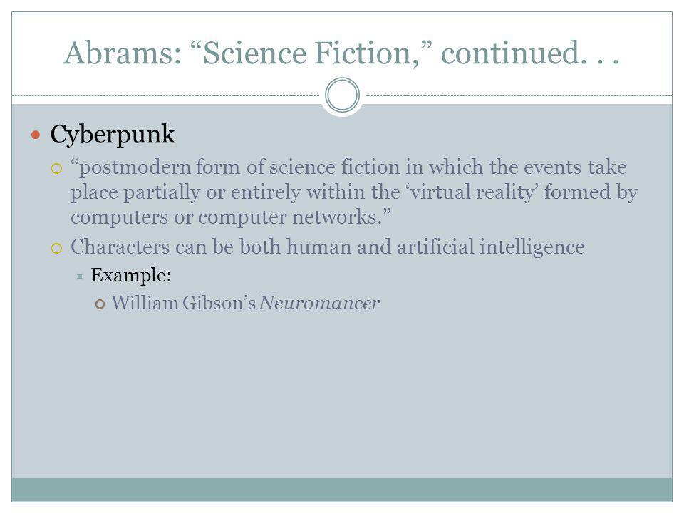 Abrams: Science Fiction, continued...