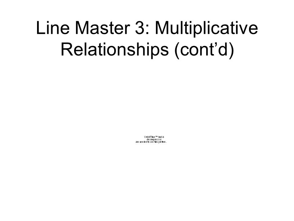 Line Master 3: Multiplicative Relationships (contd)