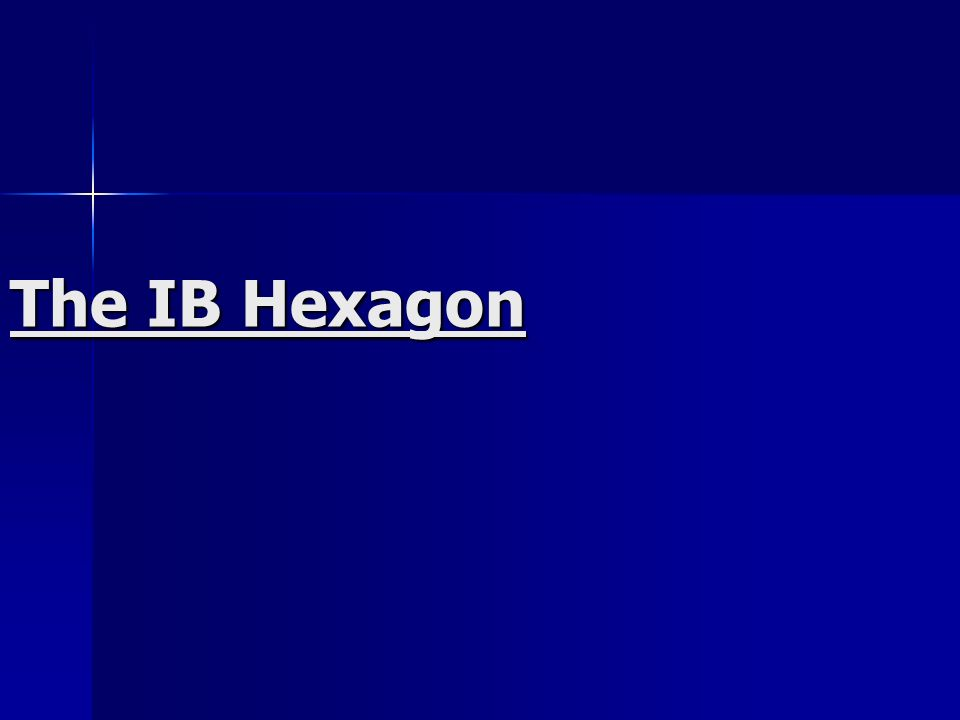 The IB Hexagon