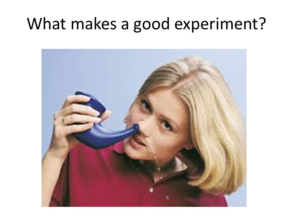 What makes a good experiment