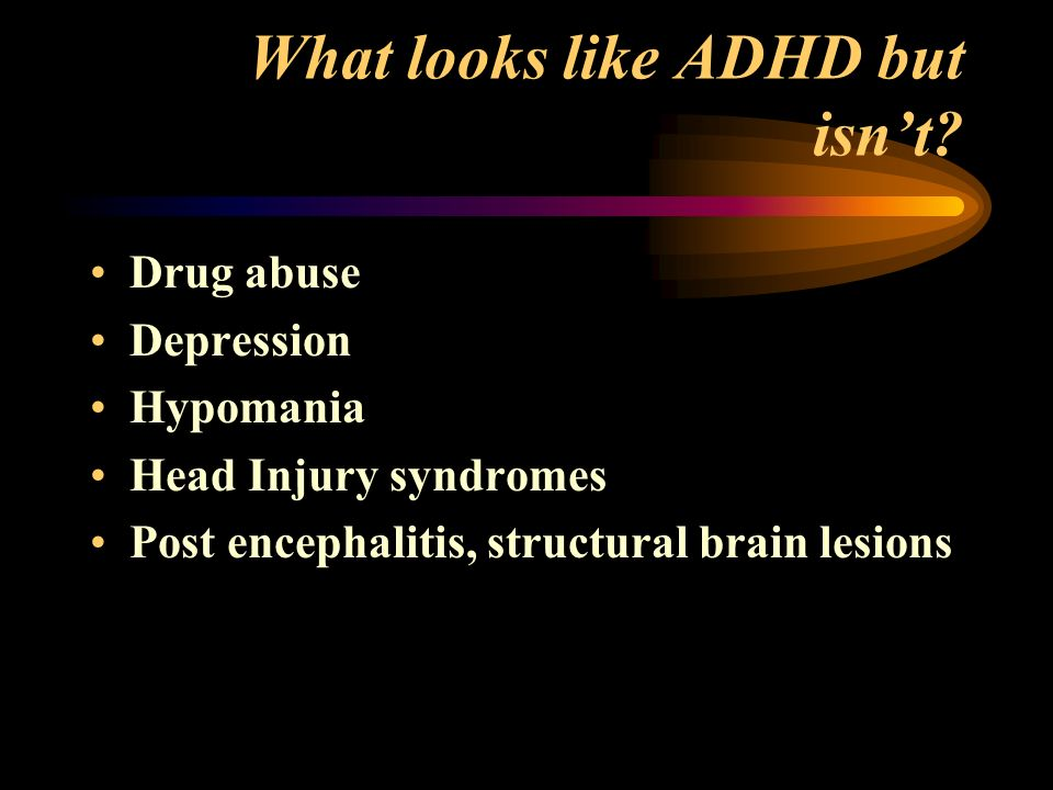 What looks like ADHD but isnt.