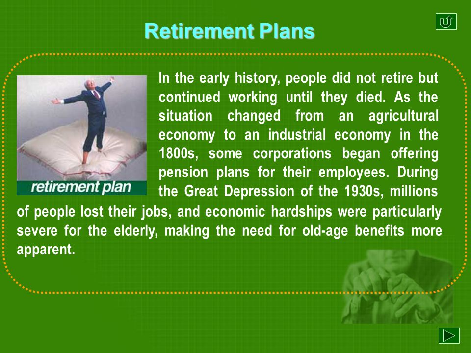 When did corporations begin offering pension plans for their employees.