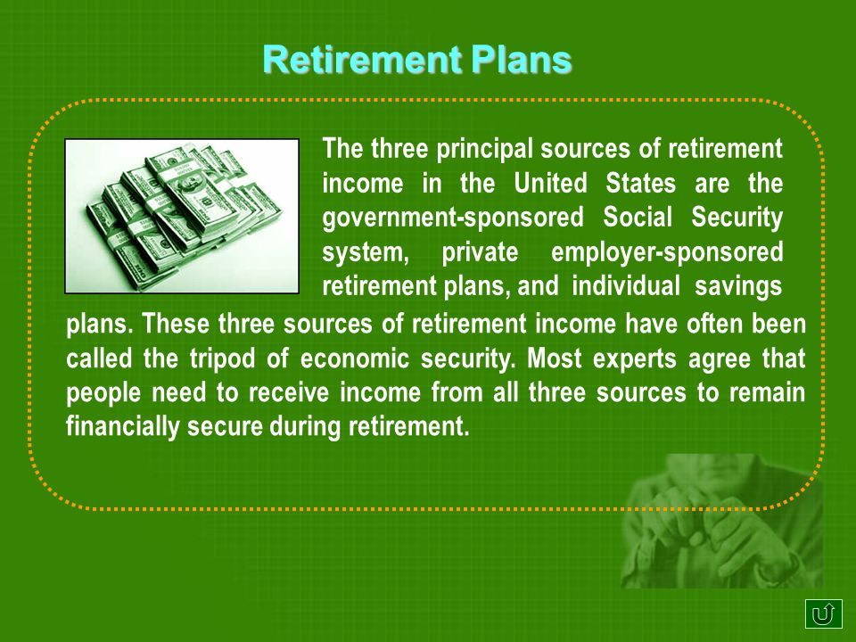 Principal sources of retirement income in the United States Lets learn...