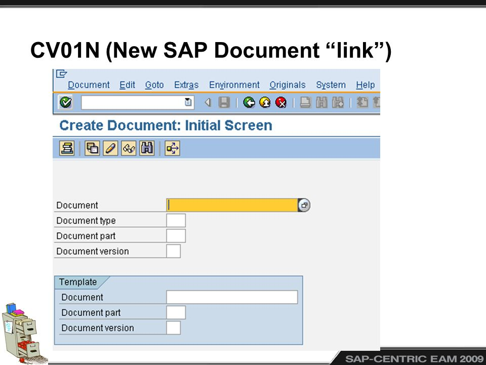 CV01N (New SAP Document link)