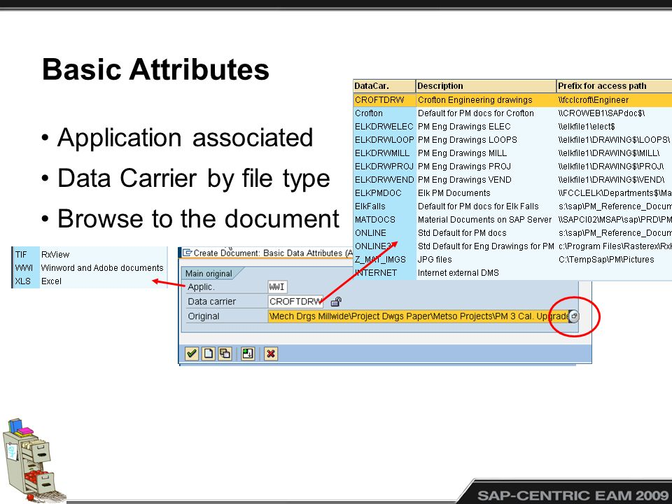 Basic Attributes Application associated Data Carrier by file type Browse to the document
