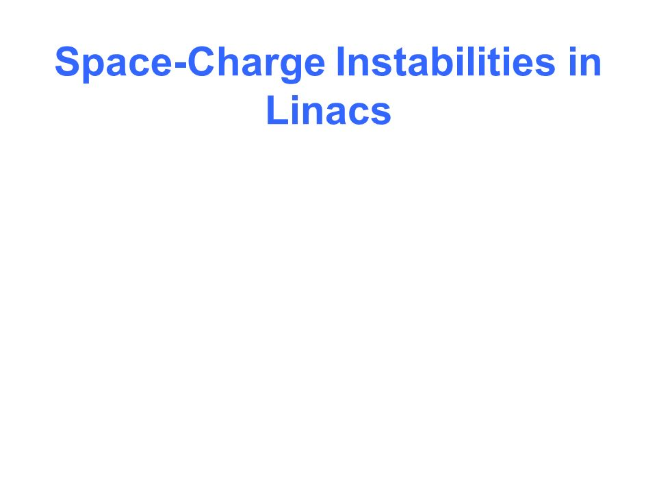 Space-Charge Instabilities in Linacs