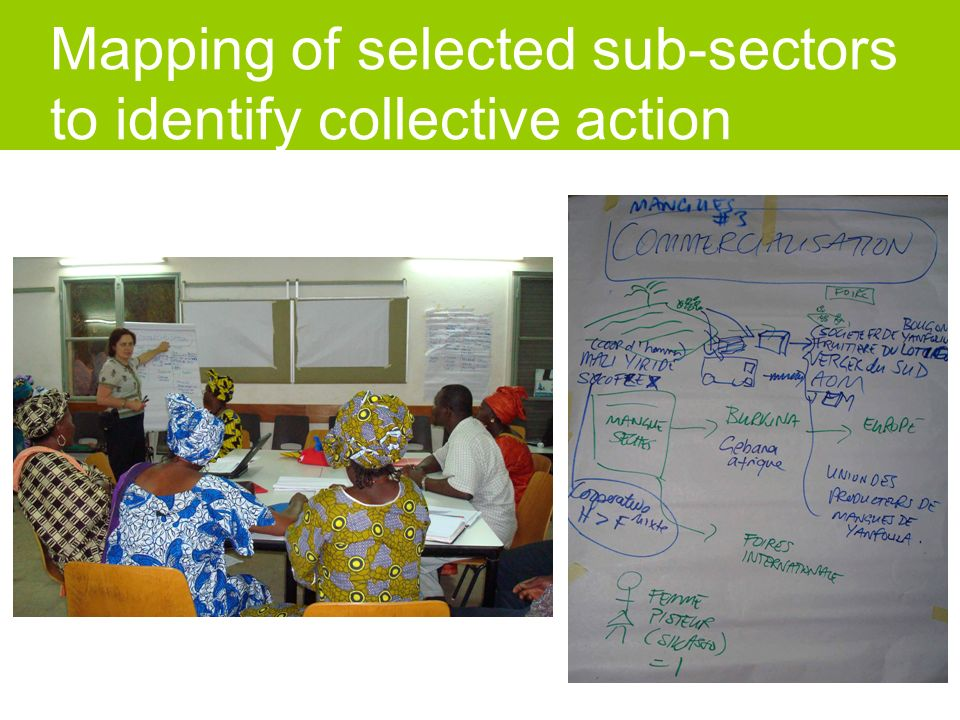 Mapping of selected sub-sectors to identify collective action