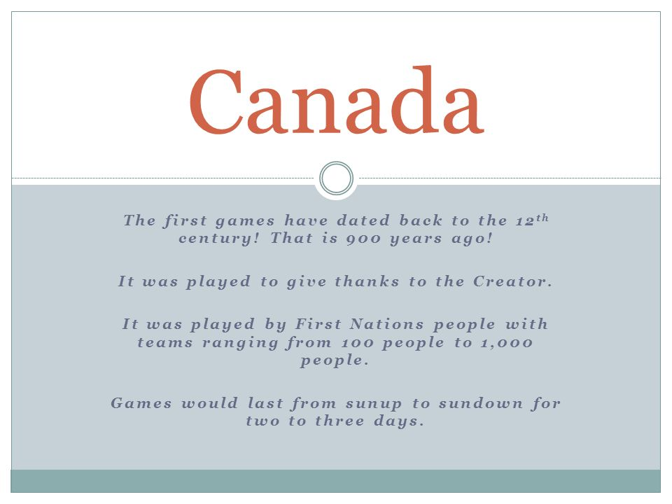The first games have dated back to the 12 th century.