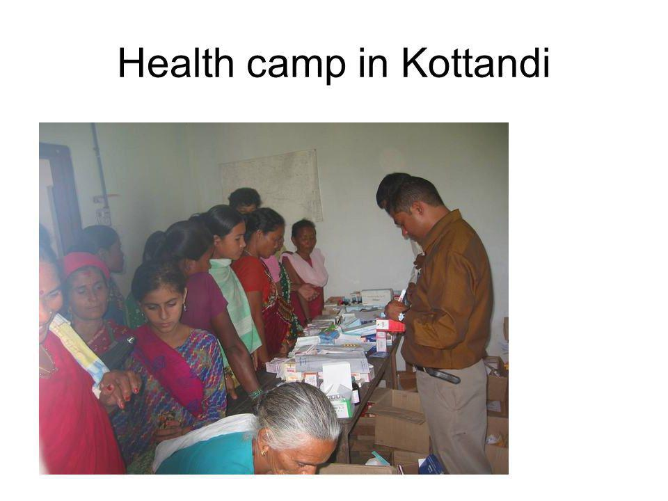 Health camp in Kottandi