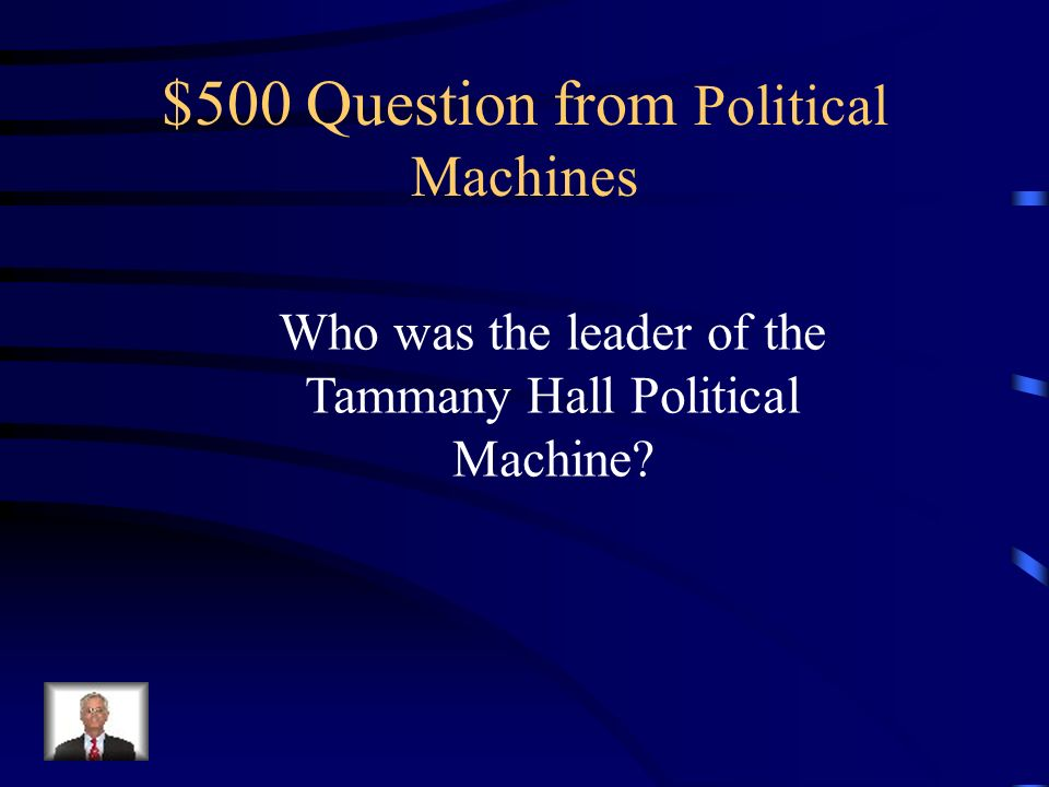 $400 Answer from Political Machines Built Parks, sewers, schools, roads, and orphanages in many cities.