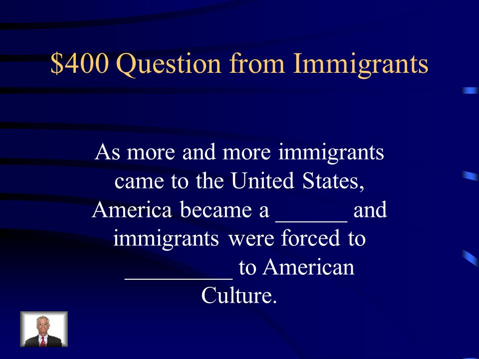 $300 Answer from Immigrants A neighborhood where people of the same ethnicity live together.