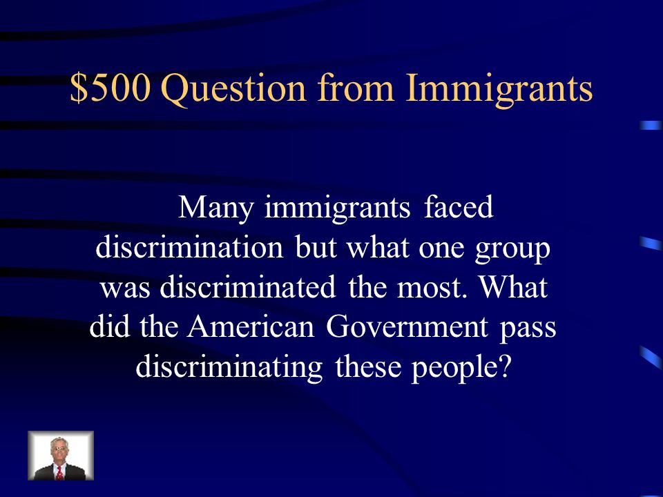 $400 Answer from Immigrants Melting Pot, and Assimilation