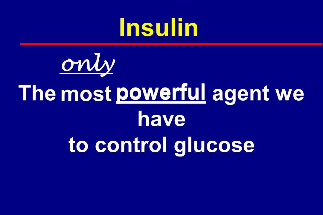 Conclusion All hospital patients should have normal glucose