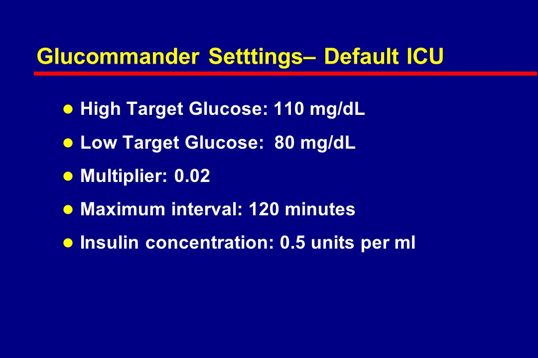Physician View – Writing orders l High Target Glucose l Low Target Glucose l Multiplier l Maximum interval l Insulin concentration