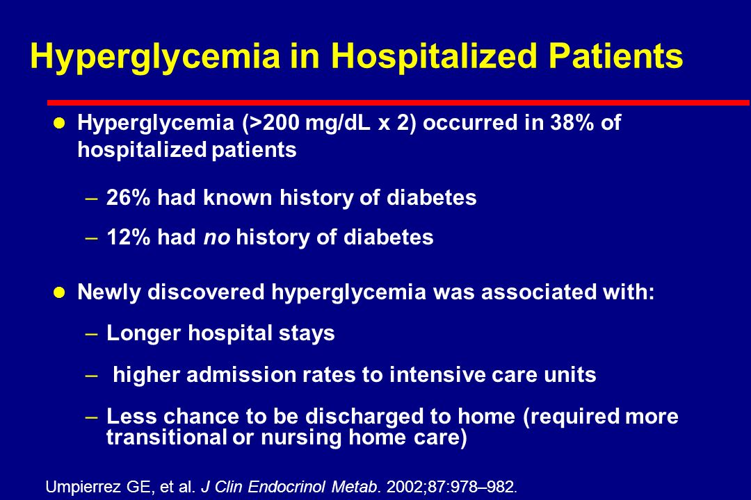 The Increasing Rate of Diabetes Among Hospitalized Patients 48% Available at: