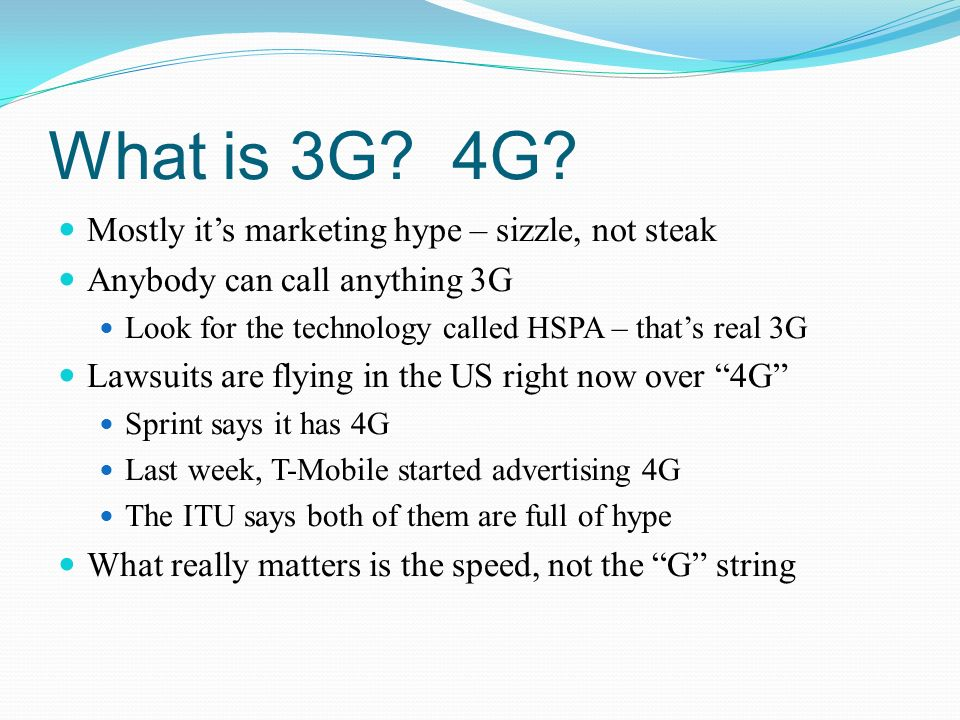 What is 3G. 4G.