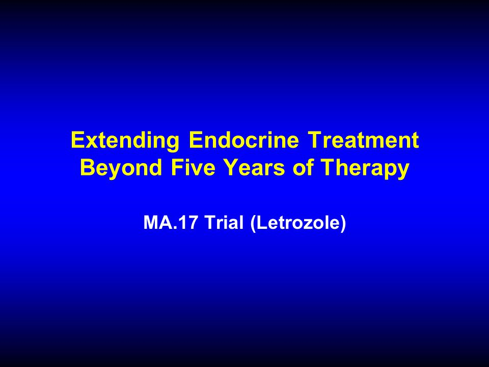 Extending Endocrine Treatment Beyond Five Years of Therapy MA.17 Trial (Letrozole)