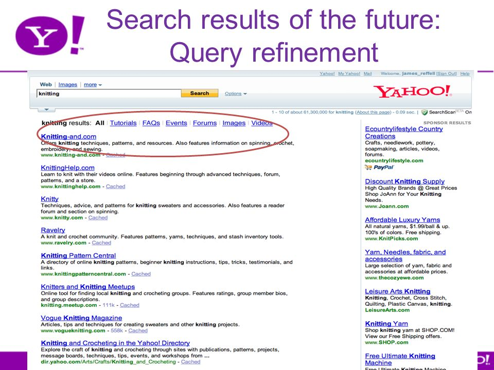 Search results of the future: Query refinement