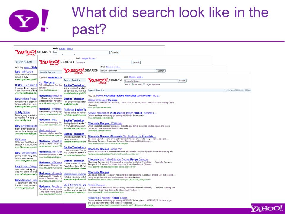 What did search look like in the past
