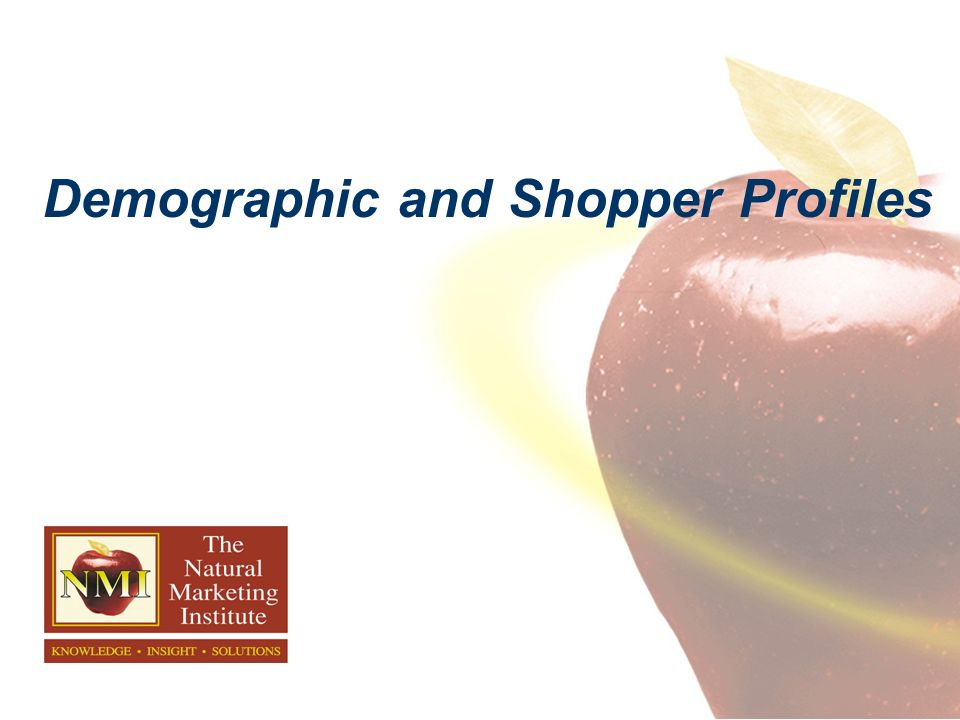 Demographic and Shopper Profiles