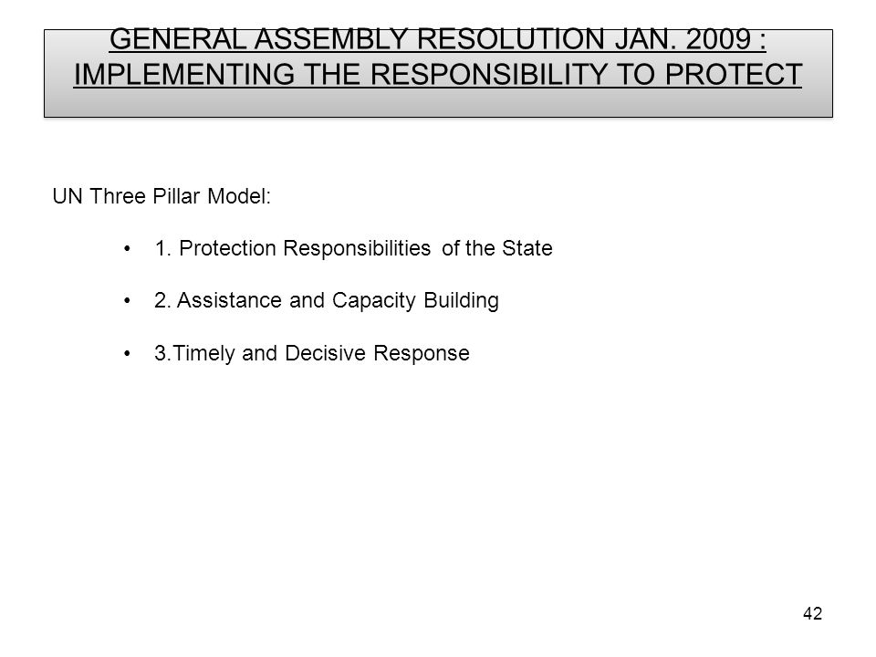 42 GENERAL ASSEMBLY RESOLUTION JAN.