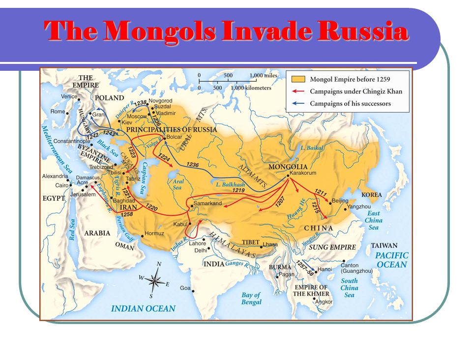 The Mongols Invade Russia
