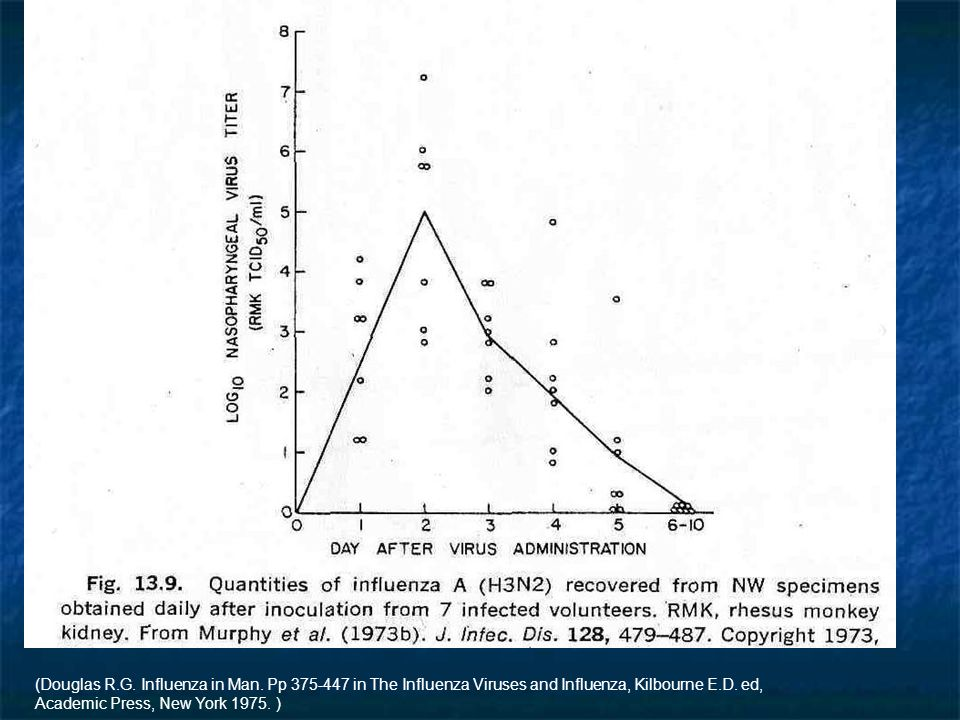 (Douglas R.G. Influenza in Man. Pp 375-447 in The Influenza Viruses and Influenza, Kilbourne E.D.