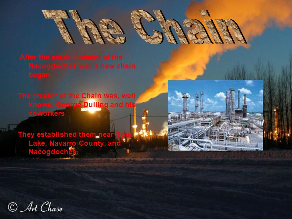 After the establishment of the Nacogdoches well a new chain began.