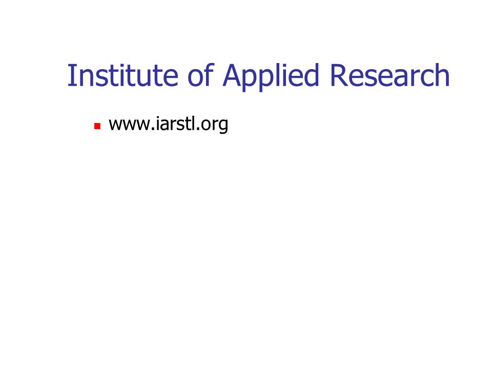Institute of Applied Research