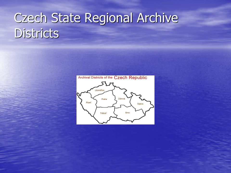 Czech State Regional Archive Districts