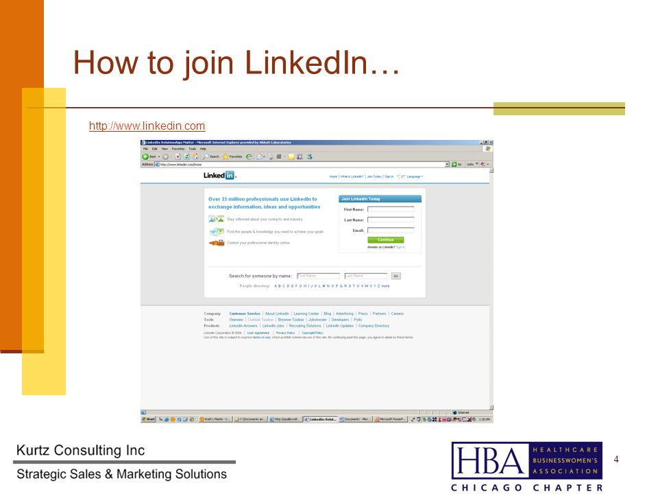How to join LinkedIn…   4