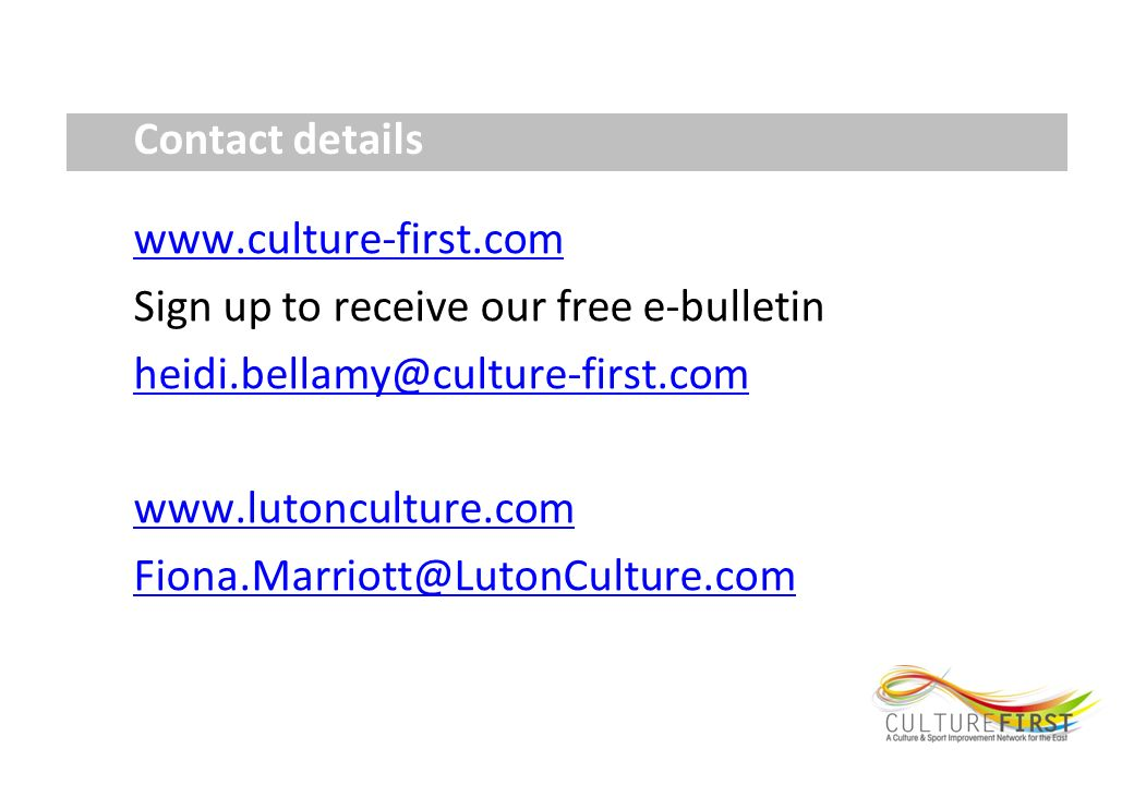 Contact details   Sign up to receive our free e-bulletin