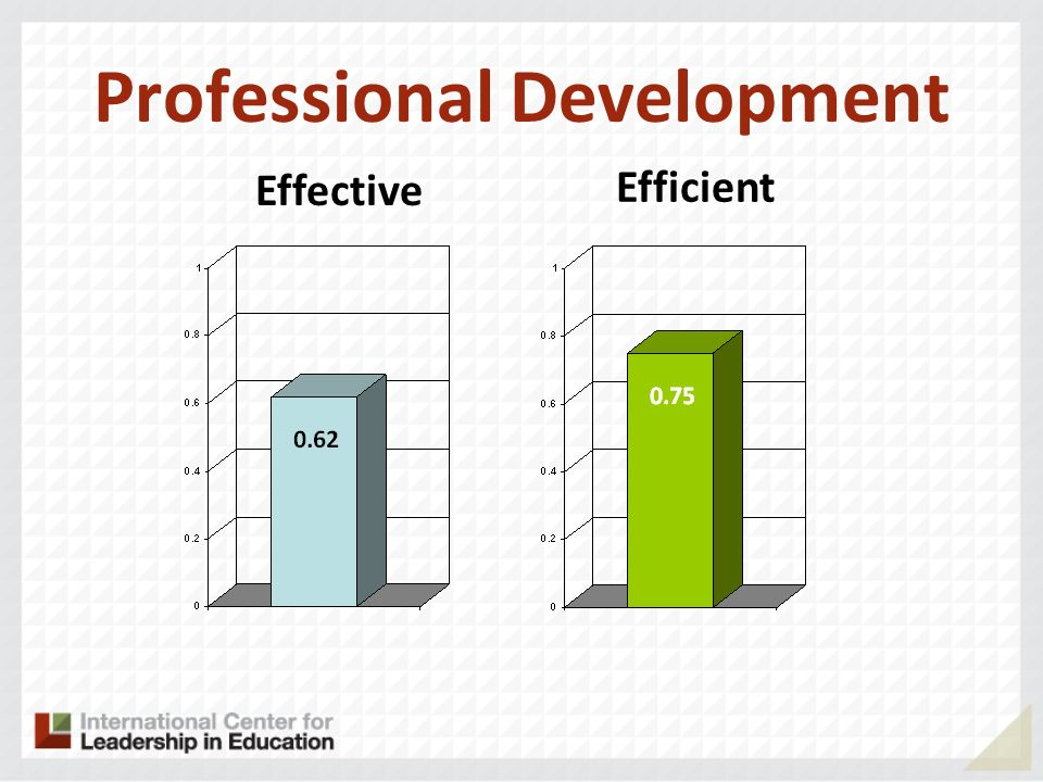 Professional Development Effective Efficient