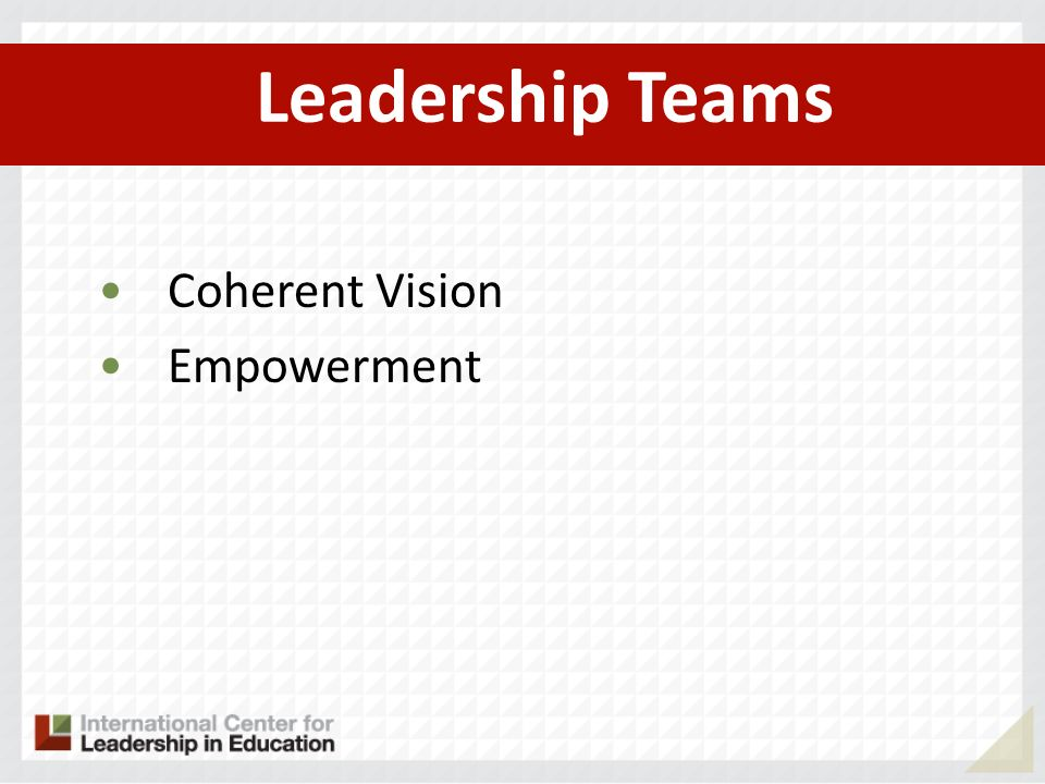 Leadership Teams Coherent Vision Empowerment