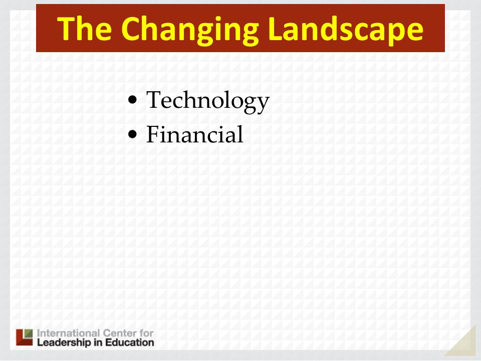 The Changing Landscape Technology Financial