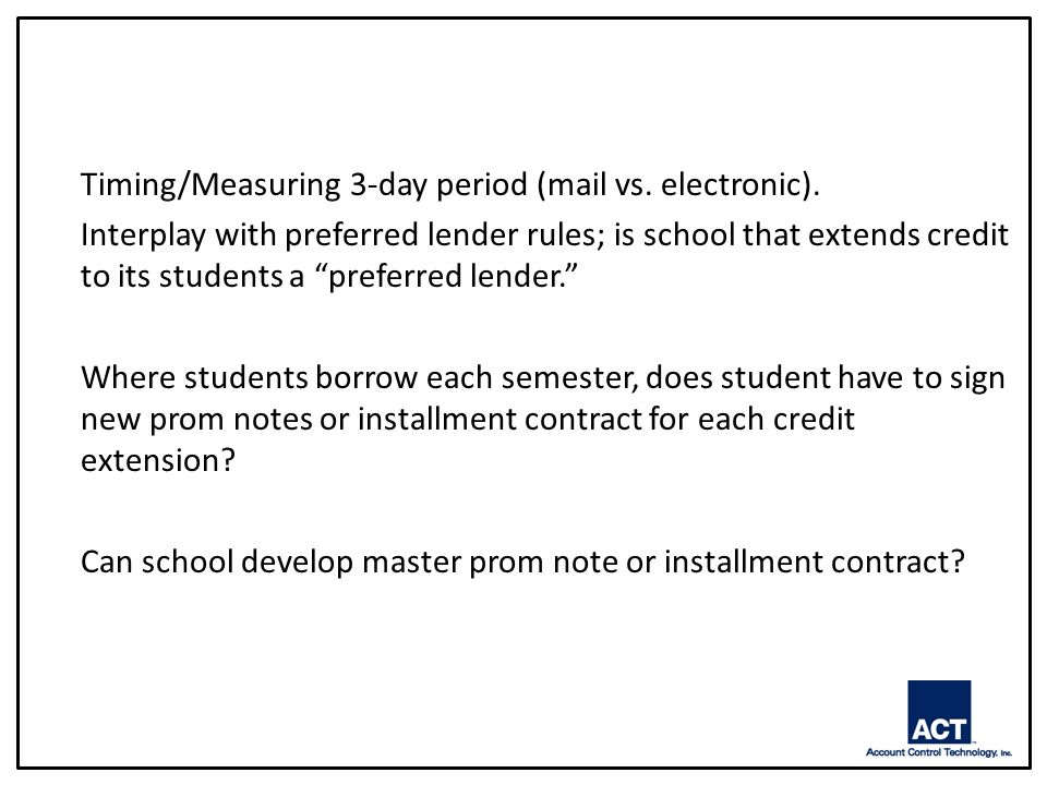 Timing/Measuring 3-day period (mail vs. electronic).