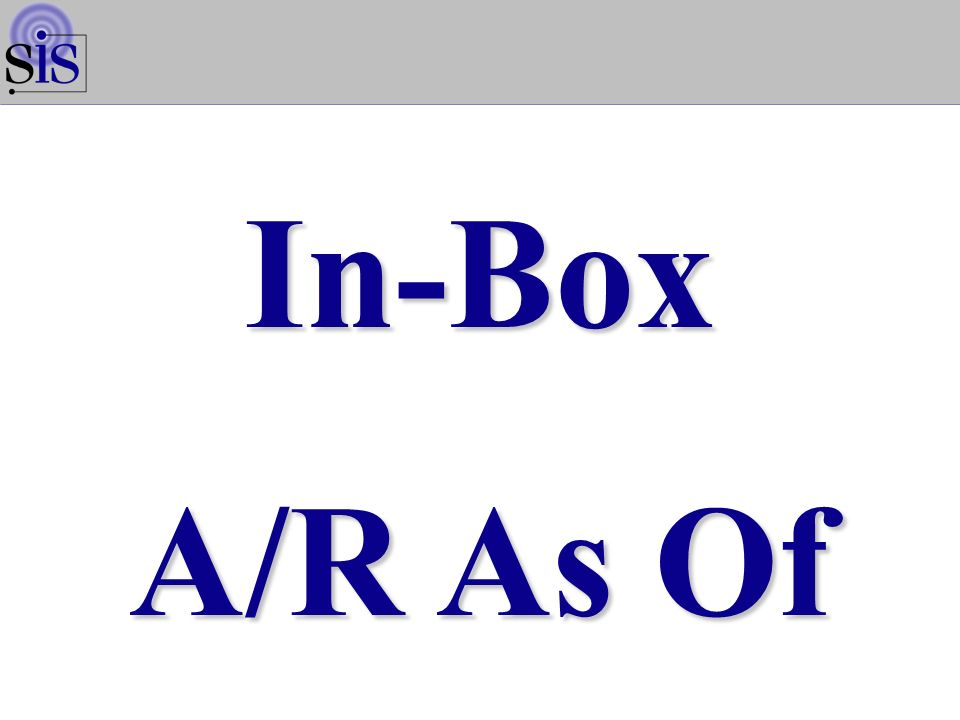 In-Box A/R As Of
