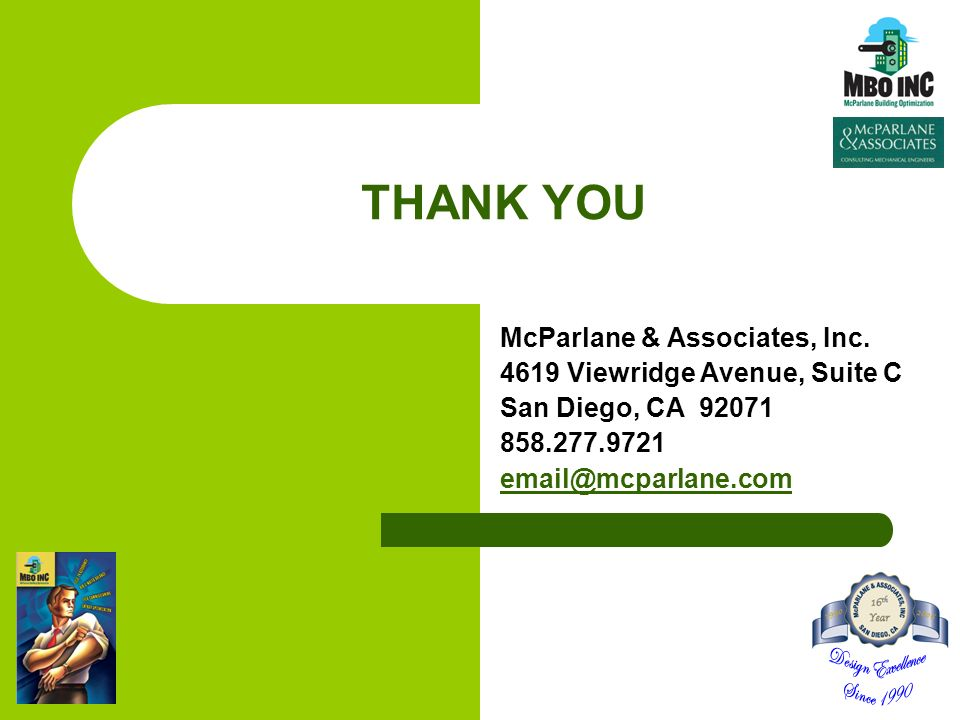 THANK YOU McParlane & Associates, Inc.