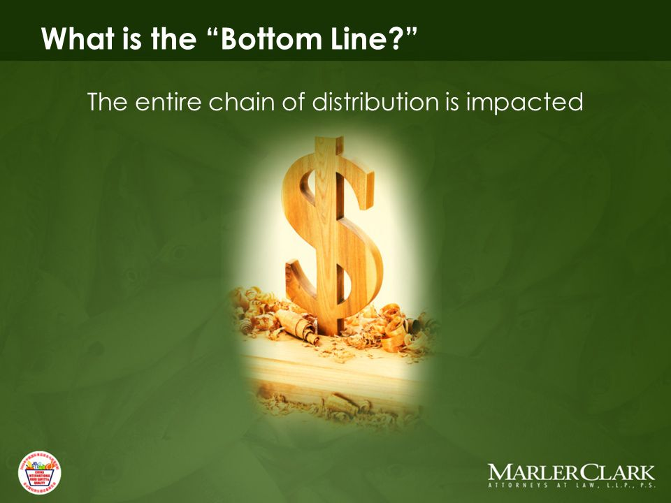 What is the Bottom Line The entire chain of distribution is impacted