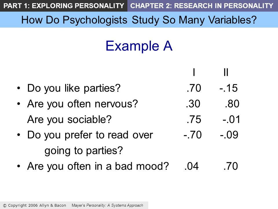 How Do Psychologists Study So Many Variables.