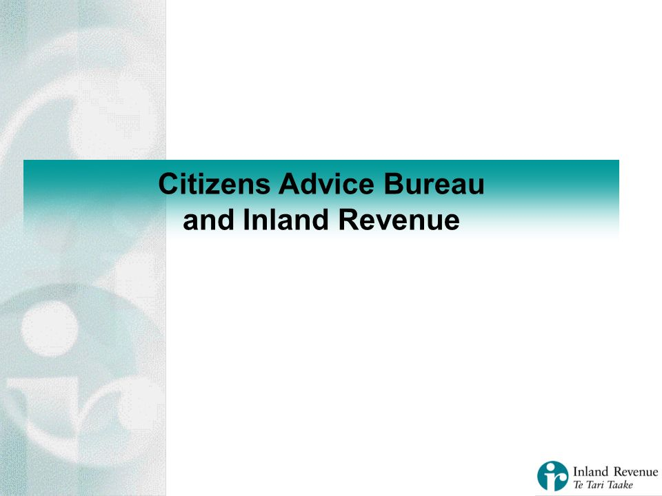 Citizens Advice Bureau and Inland Revenue