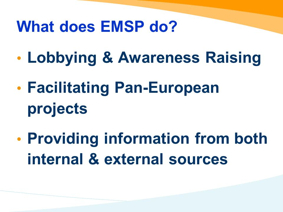 What does EMSP do.