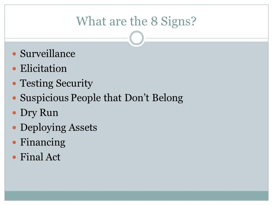 What are the 8 Signs.
