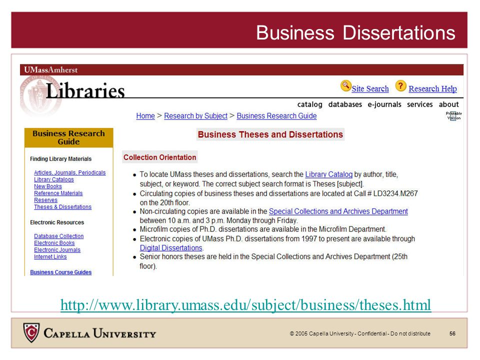 © 2005 Capella University - Confidential - Do not distribute55 Networked Digital Library of Theses and Dissertations (NDLTD)